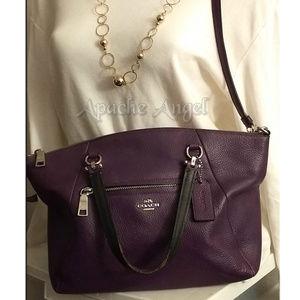 Coach Dk Purple Prairie Satchel Handbag